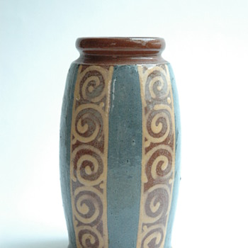 small  art deco pottery vase by LEON ELCHINGER