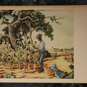 Thomas Hart Benton - Old Postcard
