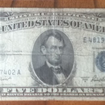 Blue Seal Silver Certificates