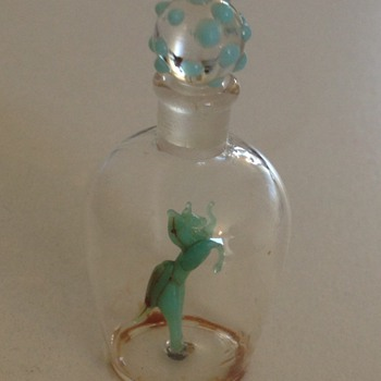 Glass perfume bottle i think ??? - Bottles