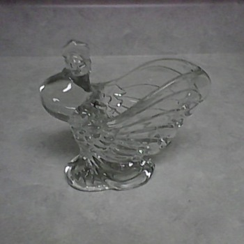HEISEY CRYSTAL ROOSTER VASE