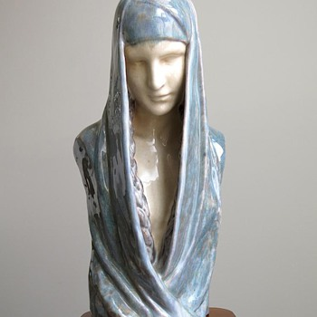 1910s Claire Colinet Symbolist Bust by Marcel Guillard for Editions Etling, Paris
