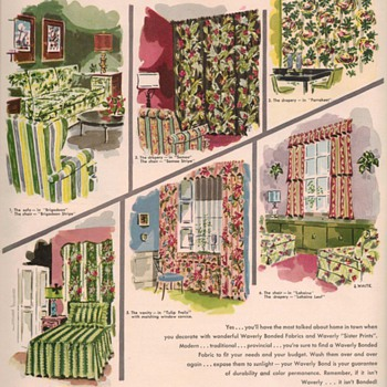 1950 Waverly Fabrics Advertisement - Advertising