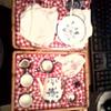 Miniture Blue Leaf Tea Set & Picnic Basket