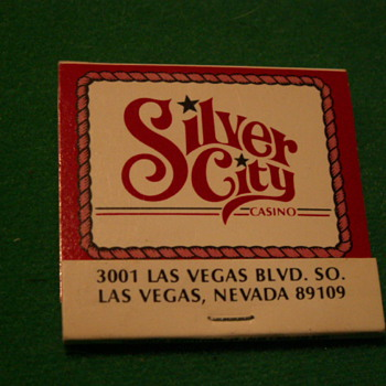 Vintage Silver City Casino Matches ~ Las Vegas, Nevada - Tobacciana