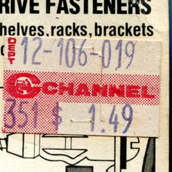 Channel and Woolworth's Price Stickers - Advertising