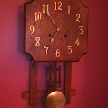 Early 1900's Mission Style Clock - Clocks