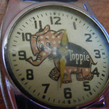 &quot;Toppie&quot; The &quot;Top Value Stamp&quot; Elephant Wristwatch - Wristwatches