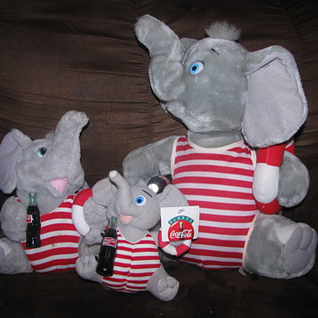 Coca Cola Elephant plush set - Animals
