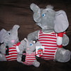 Coca Cola Elephant plush set