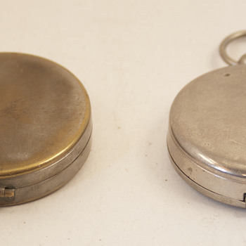Two Vintage German Made Pocket Compasses