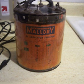 """Mallory Type MSS-101"" A/C Starting Capacitor Selector"