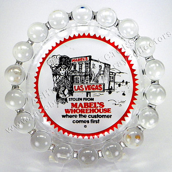Mabel's Whorehouse Glass Novelty Ashtray