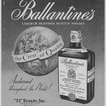 1955 Ballentines Scotch Advertisement 2 - Advertising
