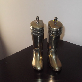 Brass boot bookends