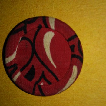 Red fabric button - Sewing