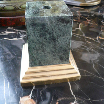 Box of Junk and Airplane Mascot on Marble Base !!~ - Art Deco