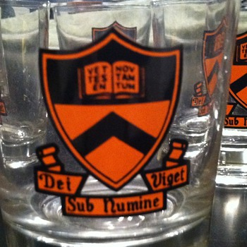 50's Princeton University drinking glasses - Glassware