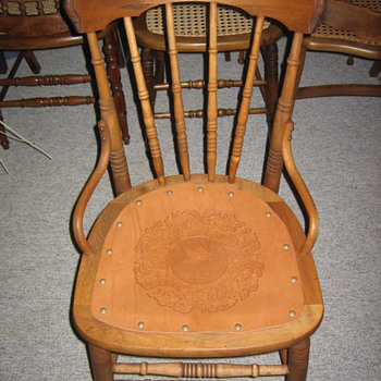 Leather seated saloon chair