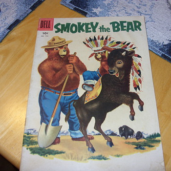 1956 smokey the bear 10 cent dell comic book - Comic Books