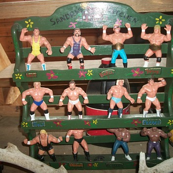 wrestlers in the man cave.