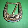 Art Nouveau bronze buckle.