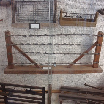 JOSIAH ELLS BARBED WIRE STORE DISPLAY