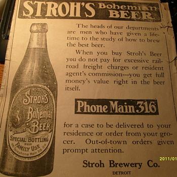 1906 Detroit Free Press Paper - Breweriana