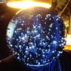 cobalt blue bubble  art glass paper weight