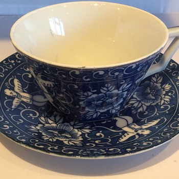 Antique chinese tea cup and saucer