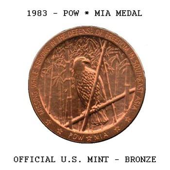 1983 - POW*MIA Bronze Medal