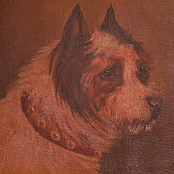 Oil Painting Of A Terrier England
