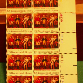 1977 Surrender At Saratoga 13¢ Stamps