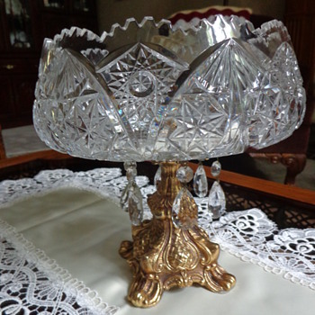 Large Compote/Centre Piece – Crystal Made in Germay