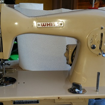 1950's White 1305 Vintage Sewing Machine