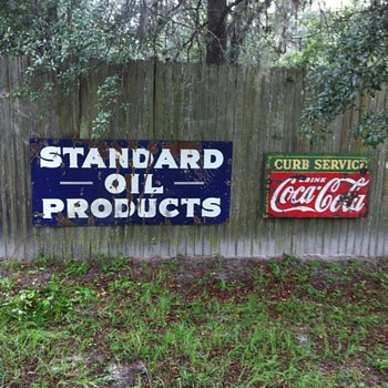 Standard oil sign from 1930's