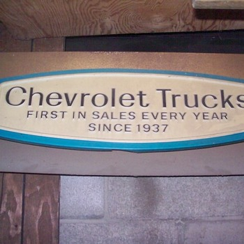 Chevrolet sign. - Signs