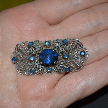 Czech Art Deco brooch - Costume Jewelry