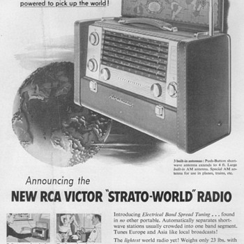 1953 - RCA Victor Shortwave Radio Advertisement
