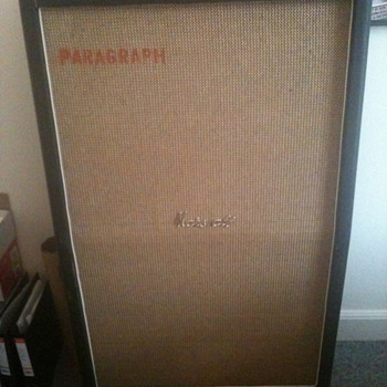1968 Basketweave Marshall 8x10 cab, model 1990. - Guitars