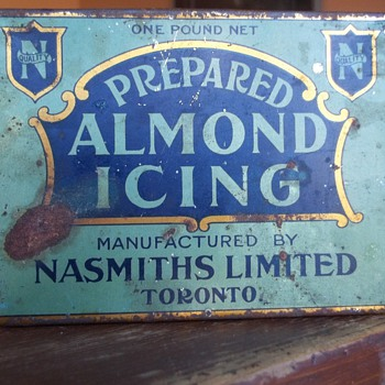 Nasmith Mfg. Ltd. Toronto Almond Icing Tin