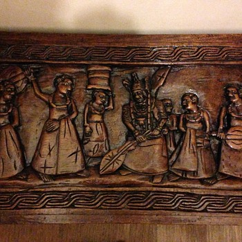 Hand carved wooden panels