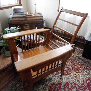 Antique Morris Chair Mission Style Rescue