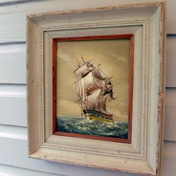 Baillie Clipper Ship Oil on Canvas