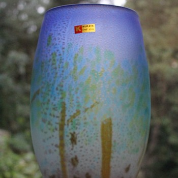 Kurata large scenic vase - The Woodland - Art Glass
