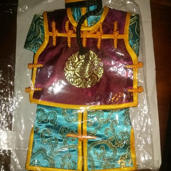 Qing Dynasty Robe & Hat Combo Sets For Wine Bottles - Asian
