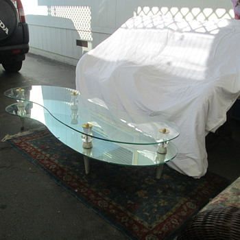 very elegant glass coffee table