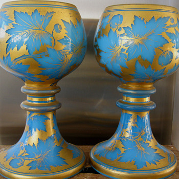 Mid 19th Century Rare GLASS  RUMMERS/ROEMER/GOBLETS - Art Glass