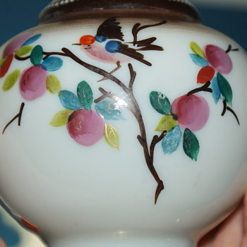 Small Hand Painted Bristol (?) Glass Vase