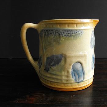 Vintage Pitcher - Art Pottery